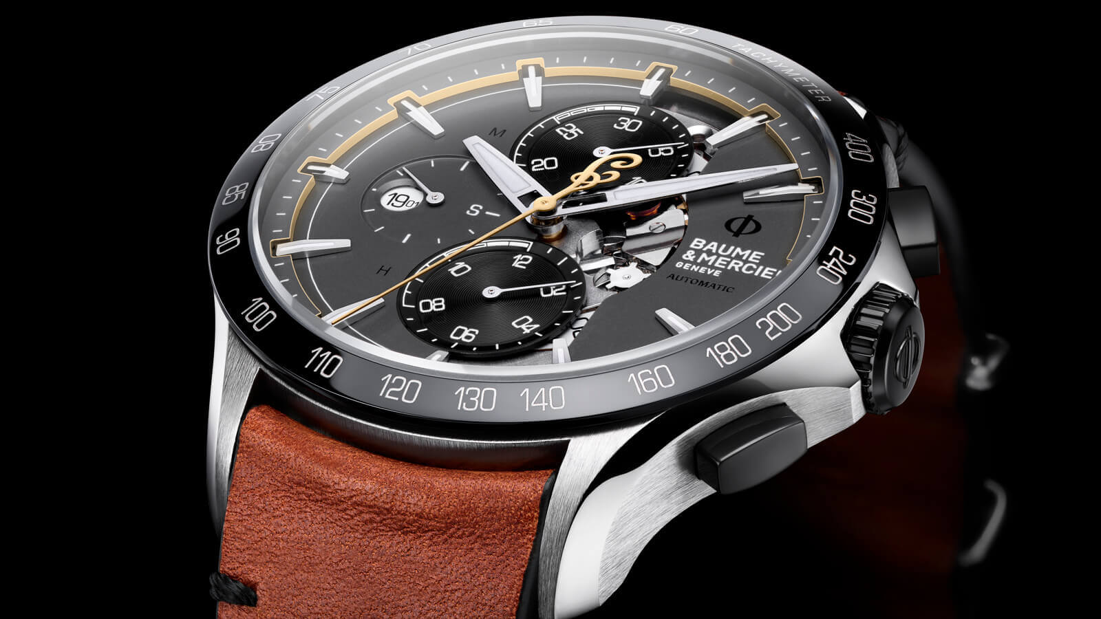 Baume & Mercier Clifton Club Indian - chronograph with three subdials