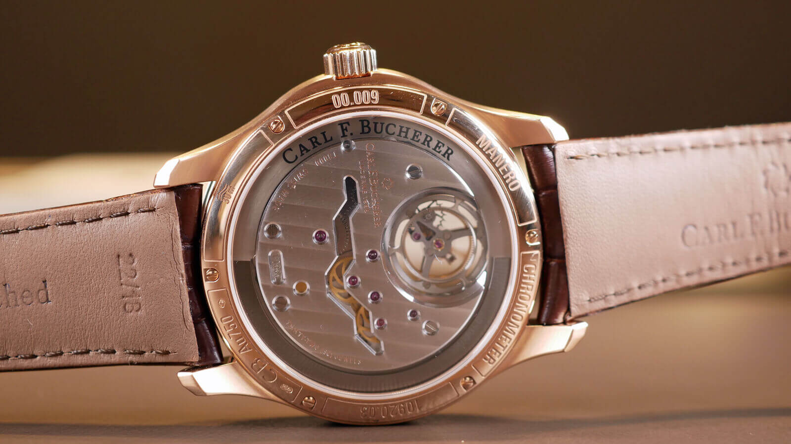 Carl F. Bucherer Manero Tourbillon Double Peripheral - chronometer (COSC) with floating tourbillon and stop-seconds function