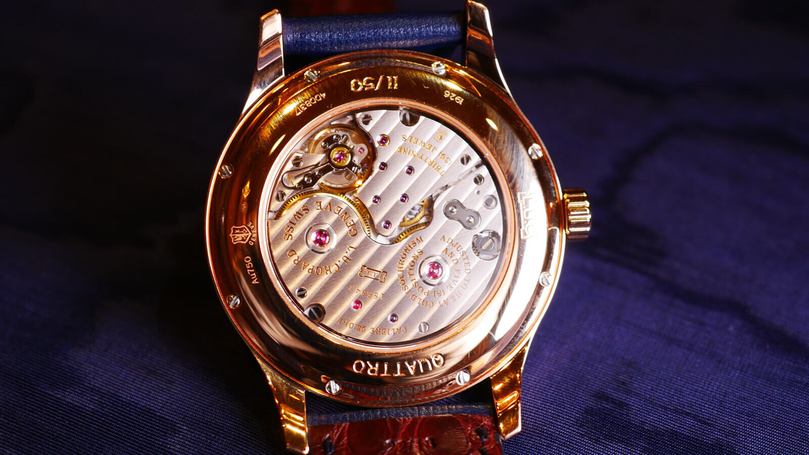 Chopard LUC Quattro - hand-wound watch with 9 day power reserve and Poincon de Geneve