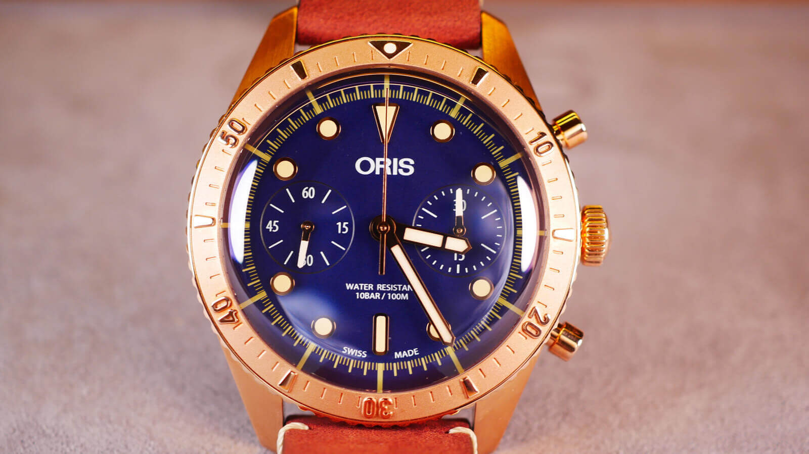Oris Carl Brashear Chronograph Limited Edition - watch featuring bronze case and Oris Calibre 771 movement