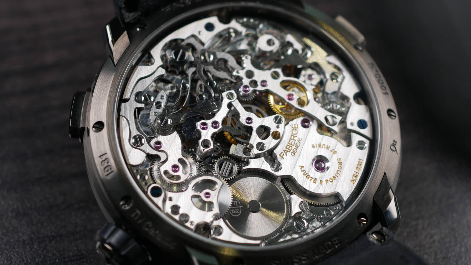 Faberge Visionnaire Chronograph - chronograph with column wheel and horizontal coupling