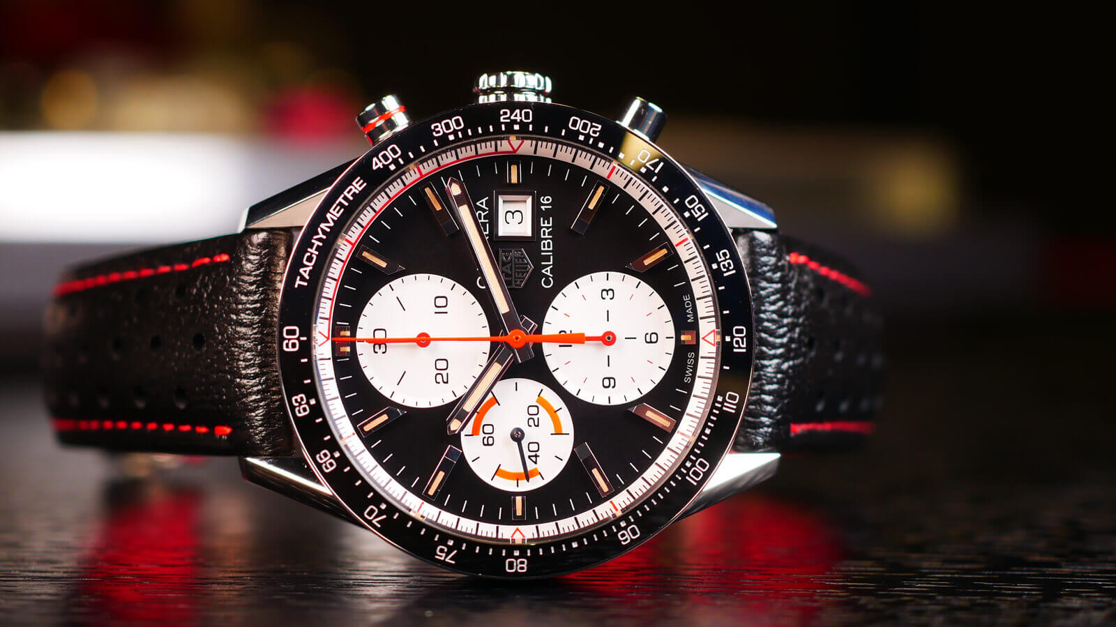 TAG Heuer Carrera Calibre 16 Chronograph - vintage-inspired chronograph with tri-compax dial