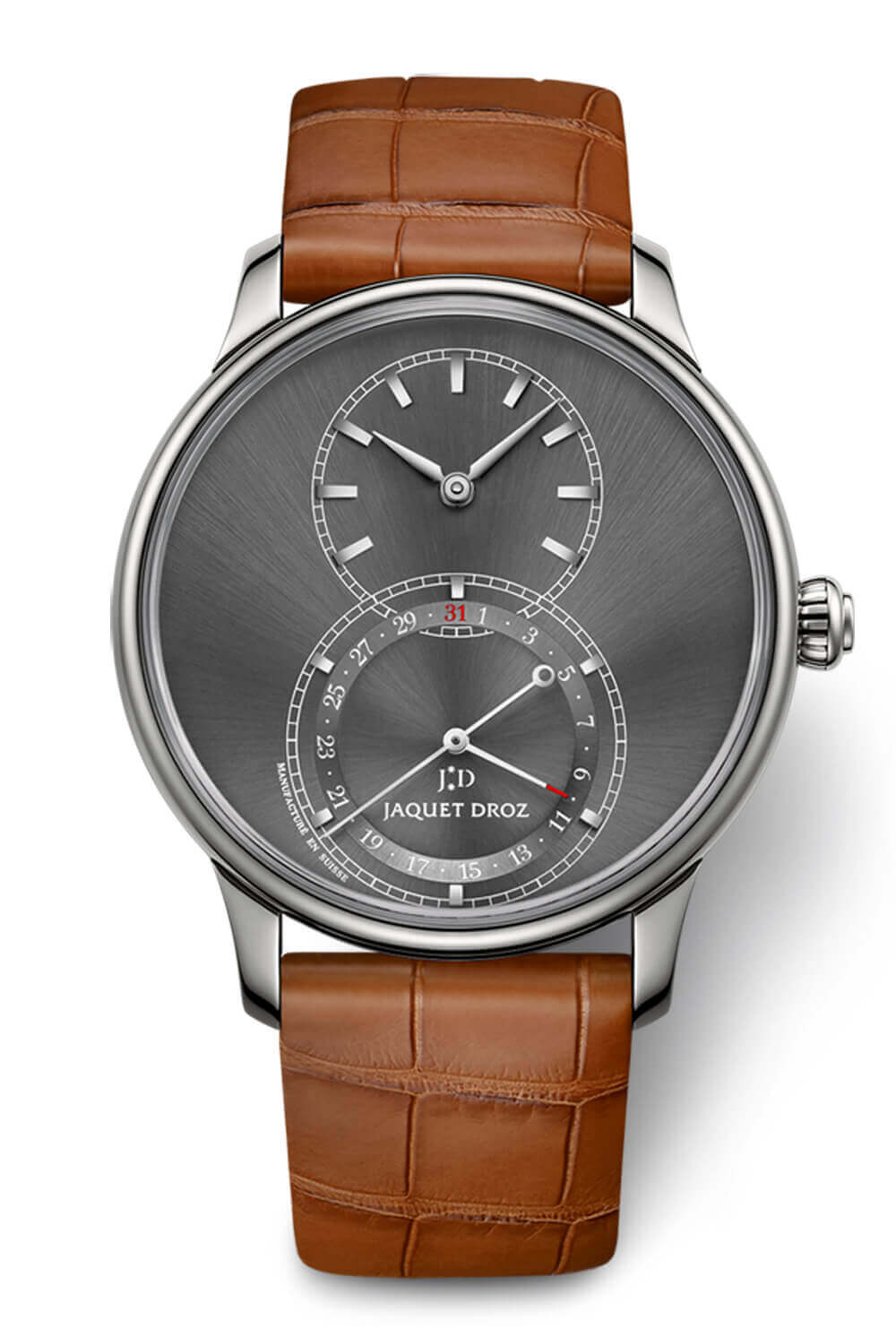 Jaquet Droz Grande Seconde Quantieme Satin-Brushed