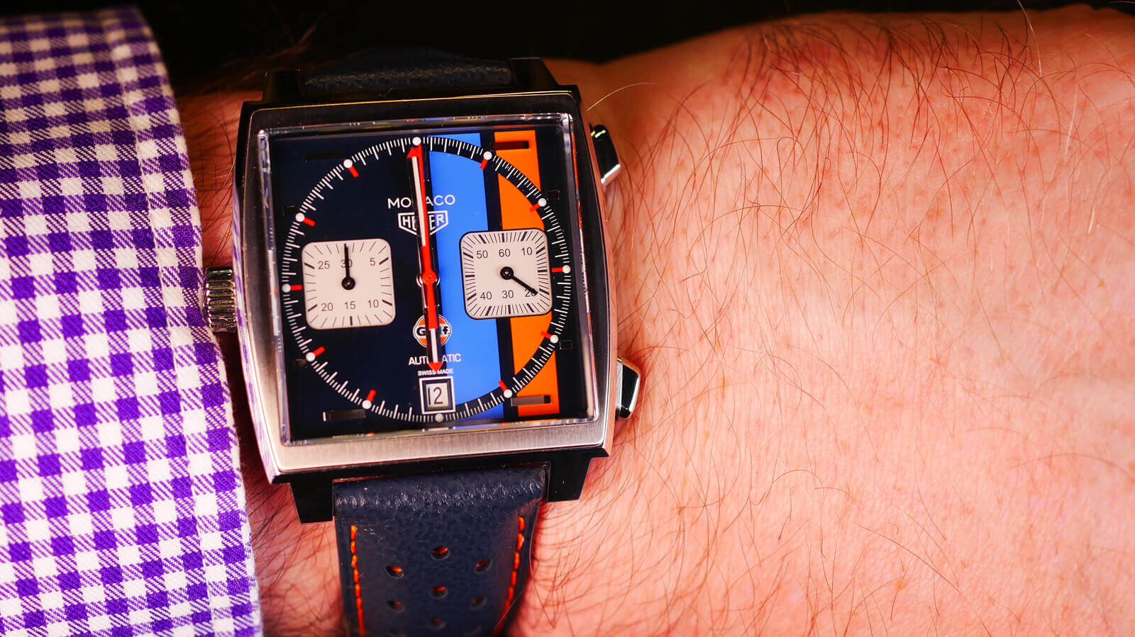 abbab5756 TAG Heuer Monaco Gulf Special Edition 50th Anniversary | TAG HEUER WATCH