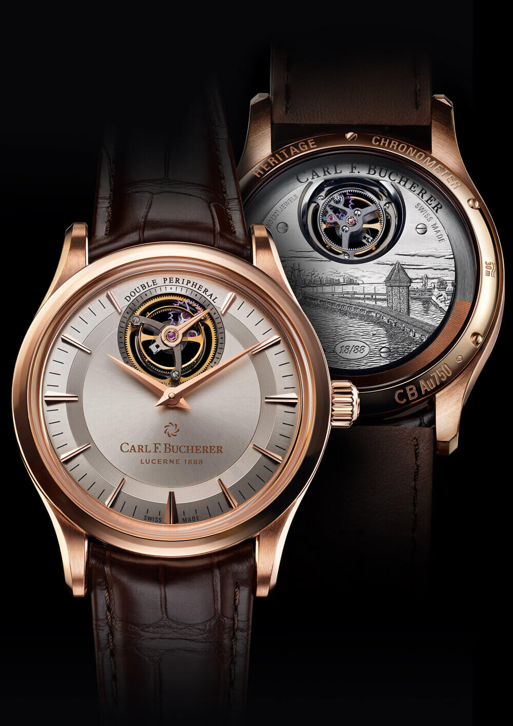 Carl F. Bucherer Heritage Tourbillon Double Peripheral Limited Edition