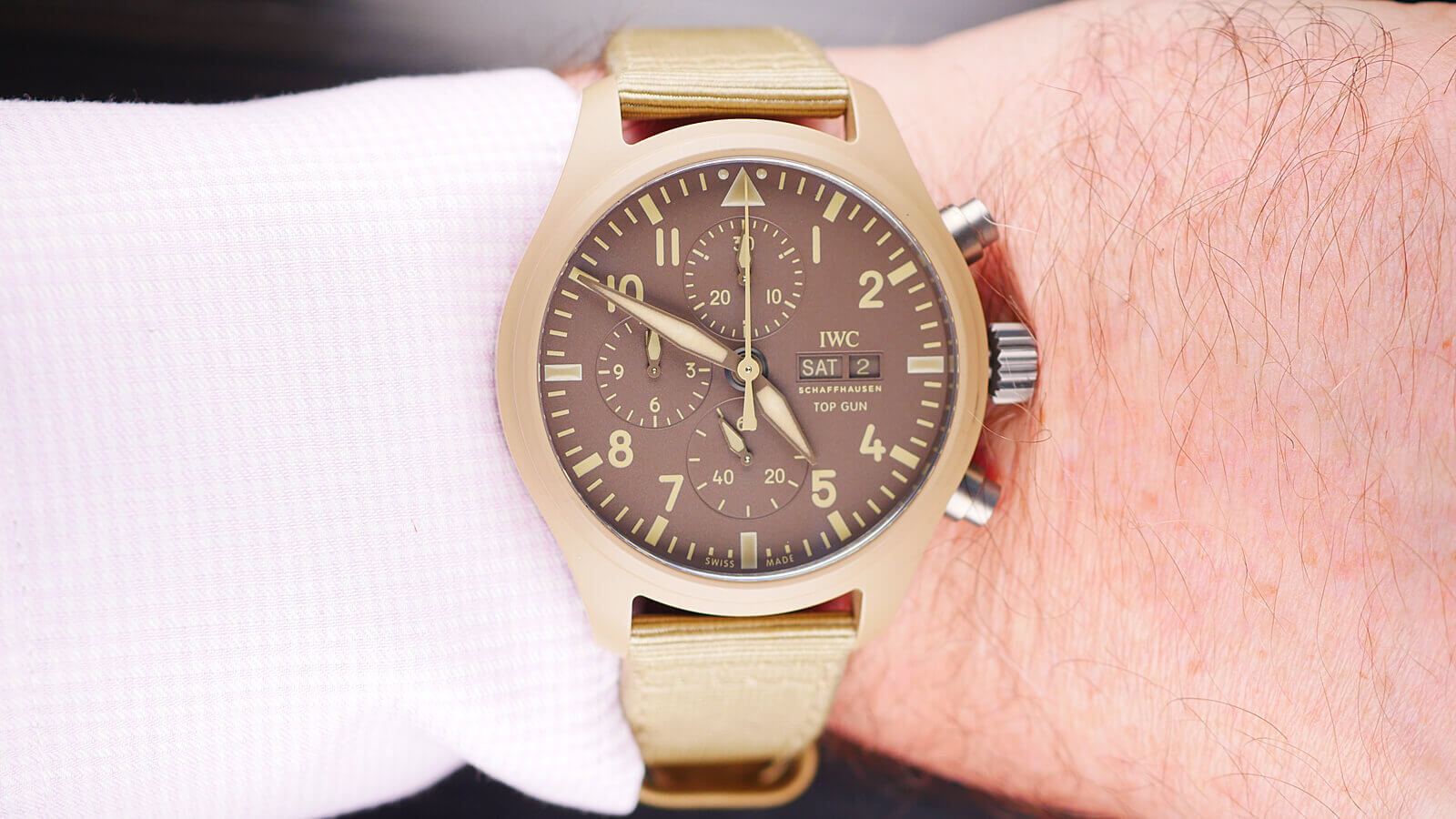 "IWC Pilot's Watch Chronograph TOP GUN Edition ""Mojave Desert"""
