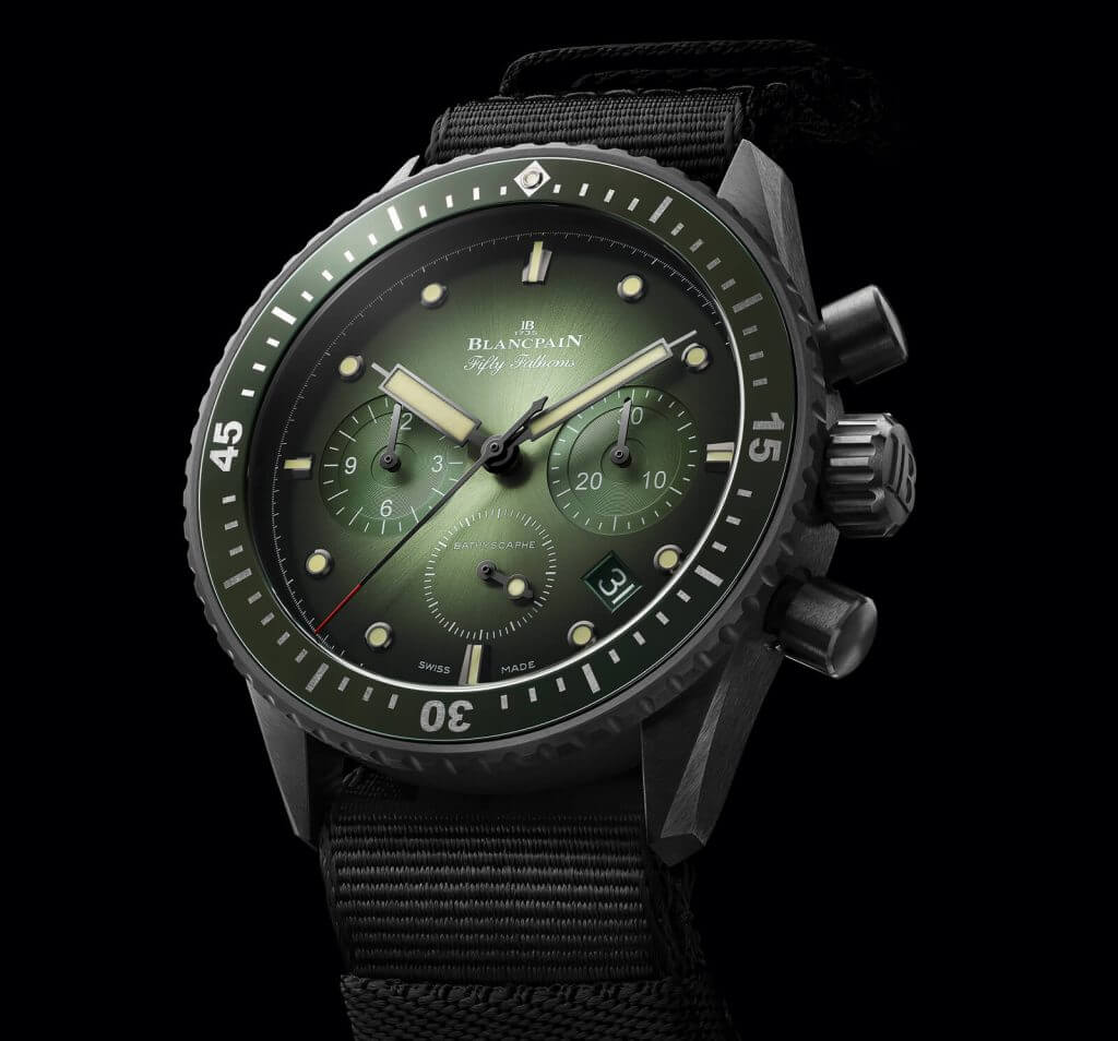 Blancpain Bathyscaphe Chronographe Flyback green dial