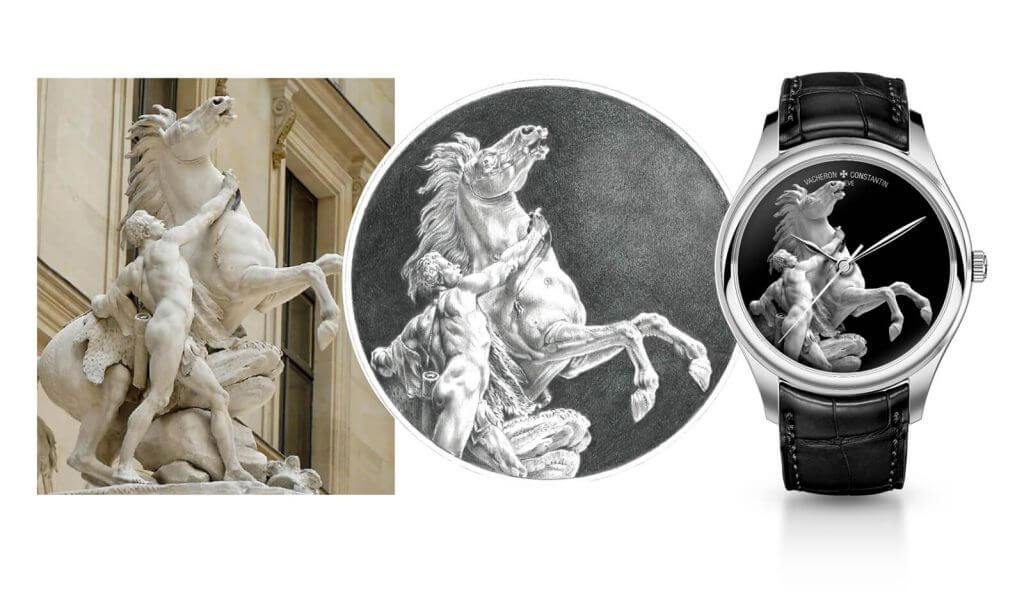 A bespoke Vacheron Constantin Les Cabinotiers watch up for auction at the Louvre Museum